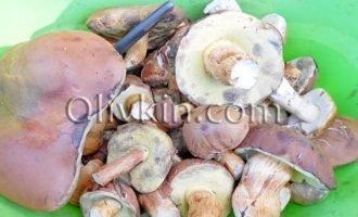 подготовим грибы