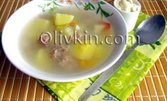 суп подавать со сметаной и зеленью