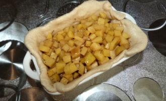 второй слой картошка и вода